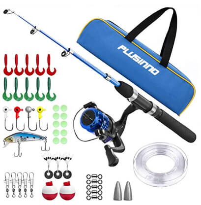 Light and Portable Telescopic Fishing Rod and Reel