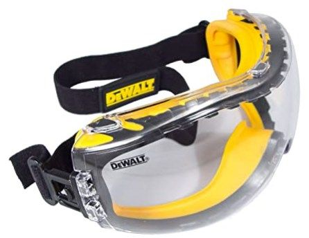 Dewalt Concealer Clear Anti-Fog Dual Mold Safety Glasses