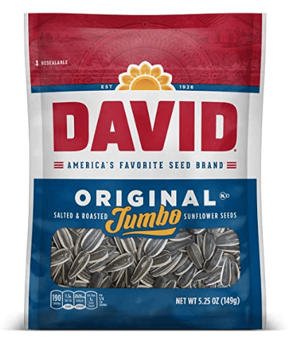 DAVID Roasted and Salted Original Jumbo Sunflower Seeds