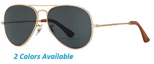 Bnus corning natural glass lenses aviator polarized sunglasses for men women italy made