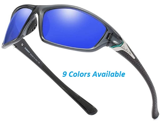DUBERY Mens Sports Polarized Sunglasses UV Protection Driving Cycling Baseball Fishing Shades D120