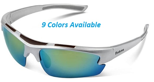 Duduma Polarized Designer Fashion Sports Sunglasses for Baseball Cycling Fishing Golf Tr62 Superlight Frame