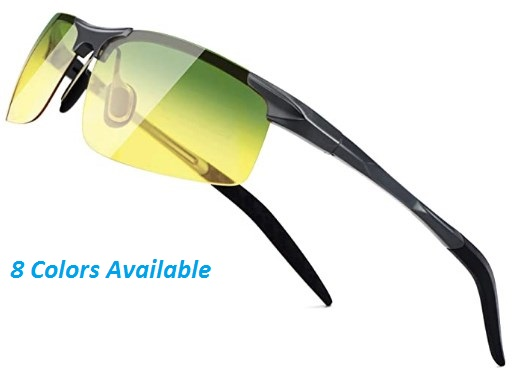 SUNGAIT Mens Polarized Sunglasses for Driving Fishing Golf Metal Frame UV400