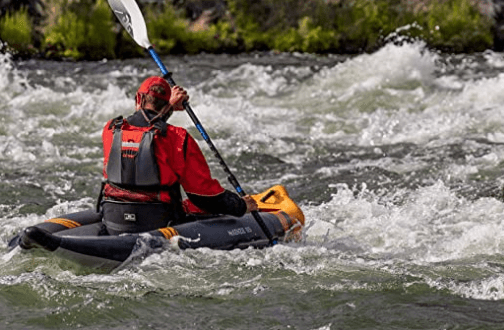 Aquaglide McKenzie 105 Inflatable Whitewater Kayak is one of the best fishing kayaks under $800.