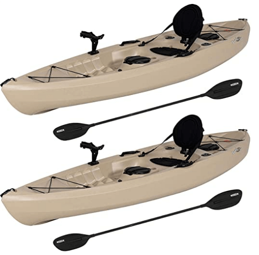 Evaxo 10 Tamarack Angler Kayak, 2 Pack with Paddles is one of the best fishing kayaks under 800 usd.