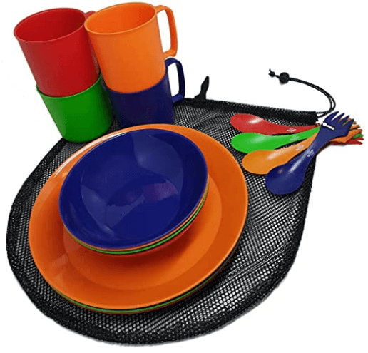 Barbeqa 4-Person Camping Dinnerware Set