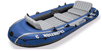 Intex Excursion 5 Person Inflatable Canoe Boat